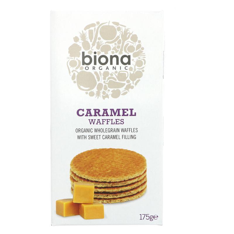 Biona Caramel Syrup Waffles - 175g