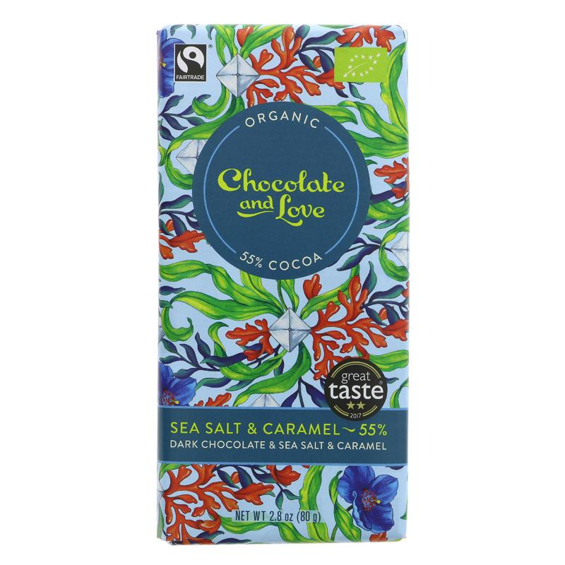 Chocolate & Love 55% Sea Salt & Caramel