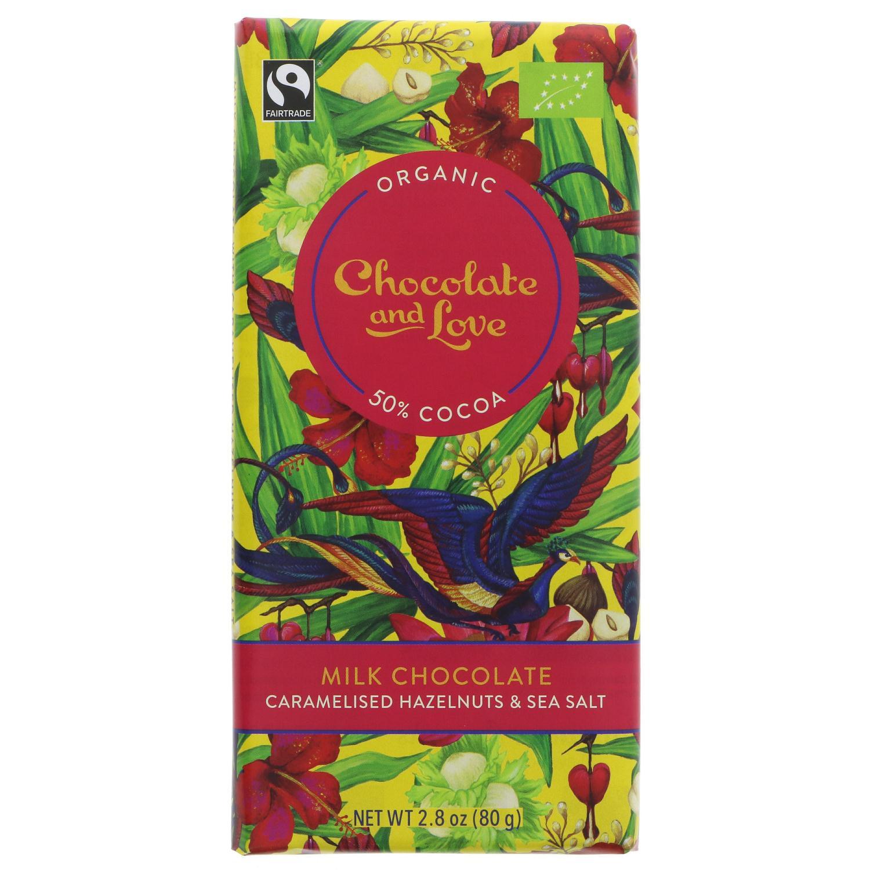 Chocolate & Love Melkesjokolade Hasselnøtt 80 g