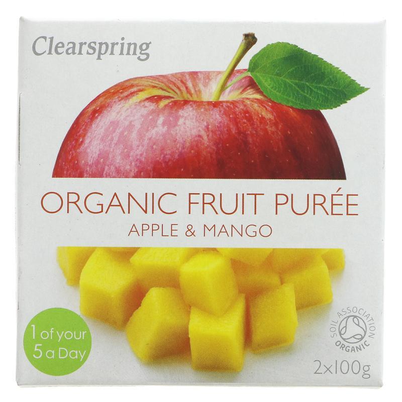 Clearspring fruktpurré eple og mango 2x100g