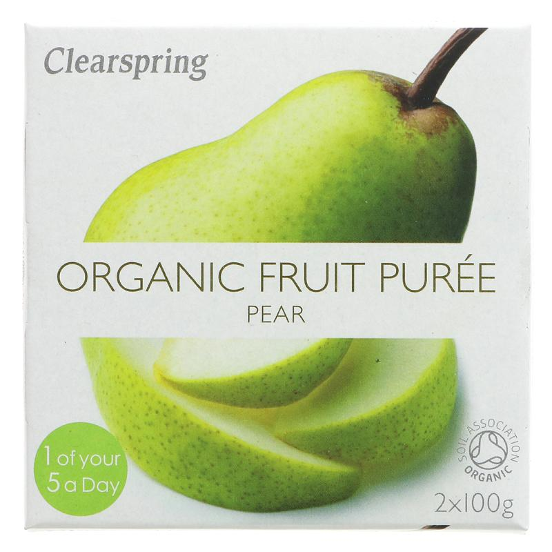 Clearspring Fruktpuré pære 2x100g