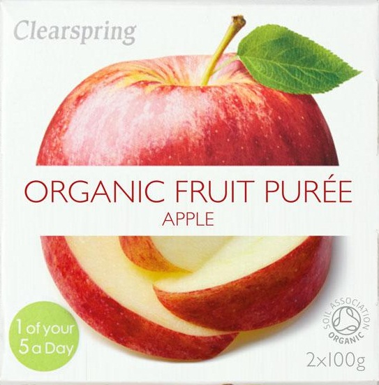 Clearspring Fruktpuré Eple 2x100g