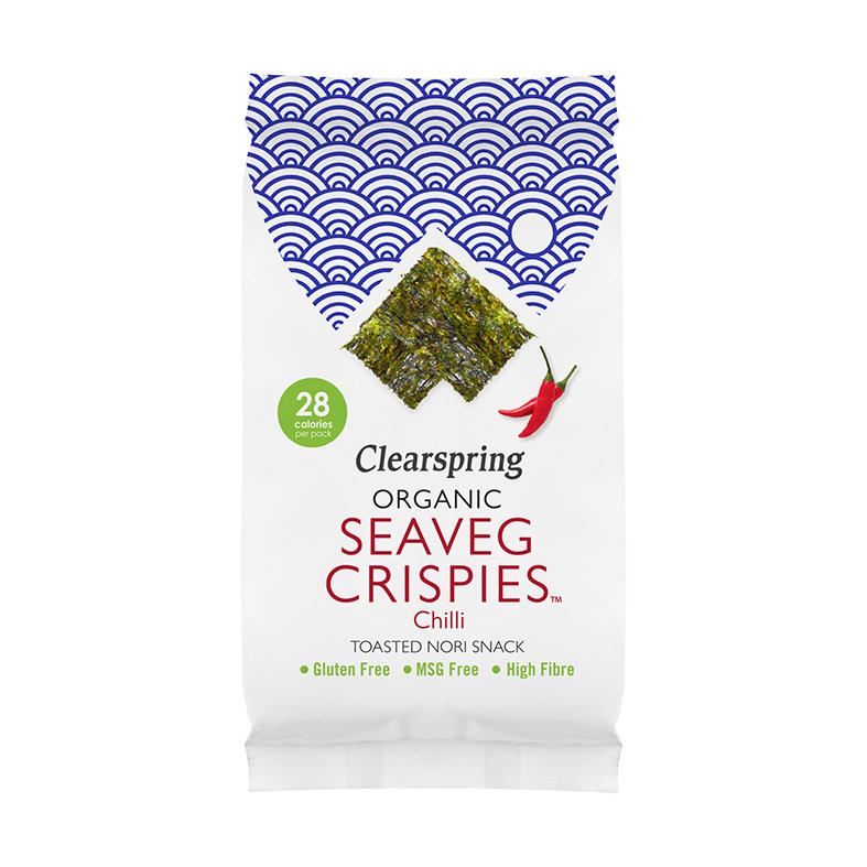 Clearspring organic seaveg crispies chili 4g