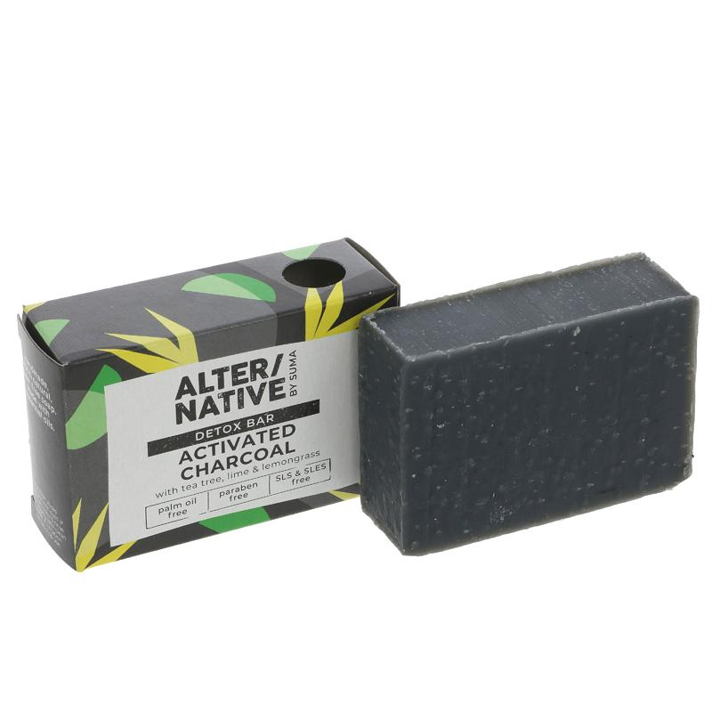 Alter/native By Suma Activated Charcoal Detox Soap Bar - 95g