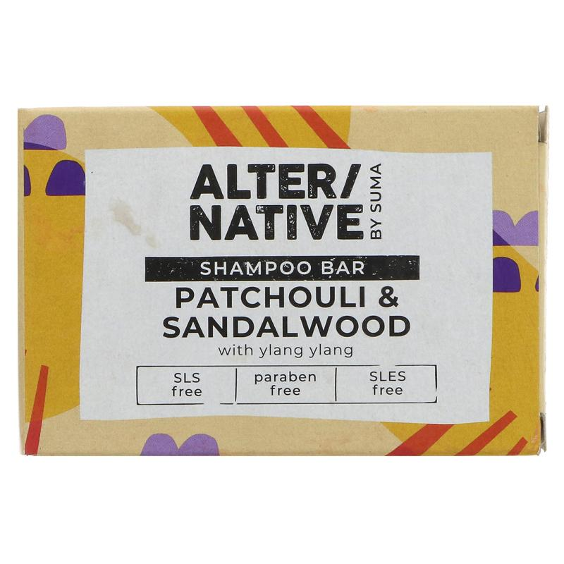 Alter/native By Suma Shampoo Bar - Patchouli & Sandalwood - 90g