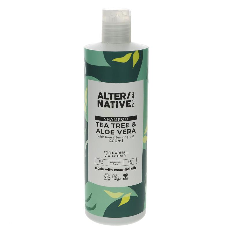 Alter/native By Suma Tea Tree & Aloe Vera Shampoo 400ml