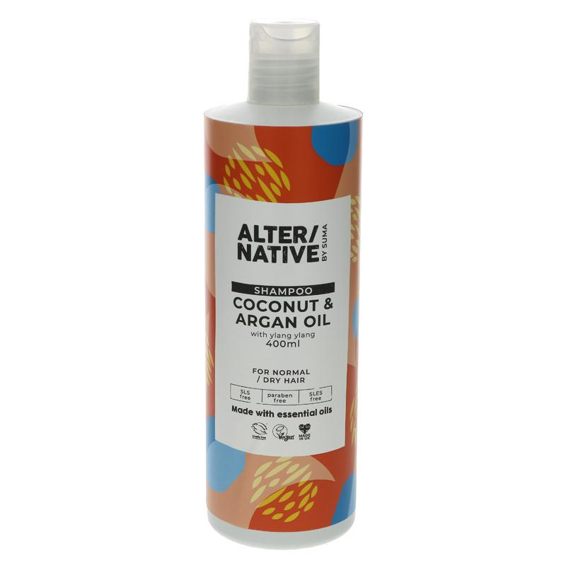 Alter/native By Suma Coconut & Argan Oil Shampoo 400ml