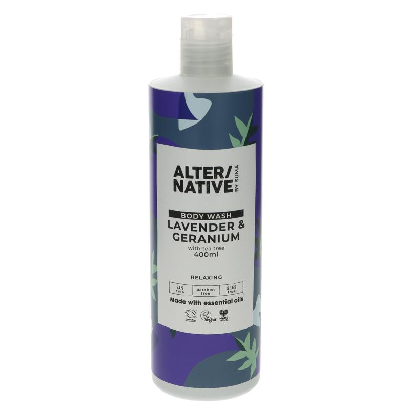 Alter/native By Suma Lavender & Geranium Body Wash 400ml