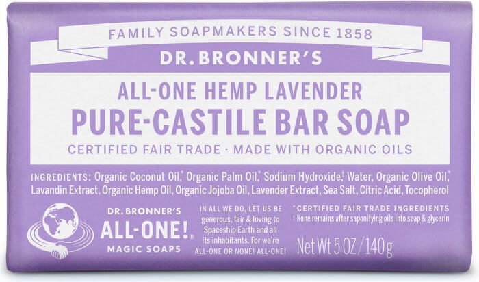 Dr. Bronners Lavender såpe 140g