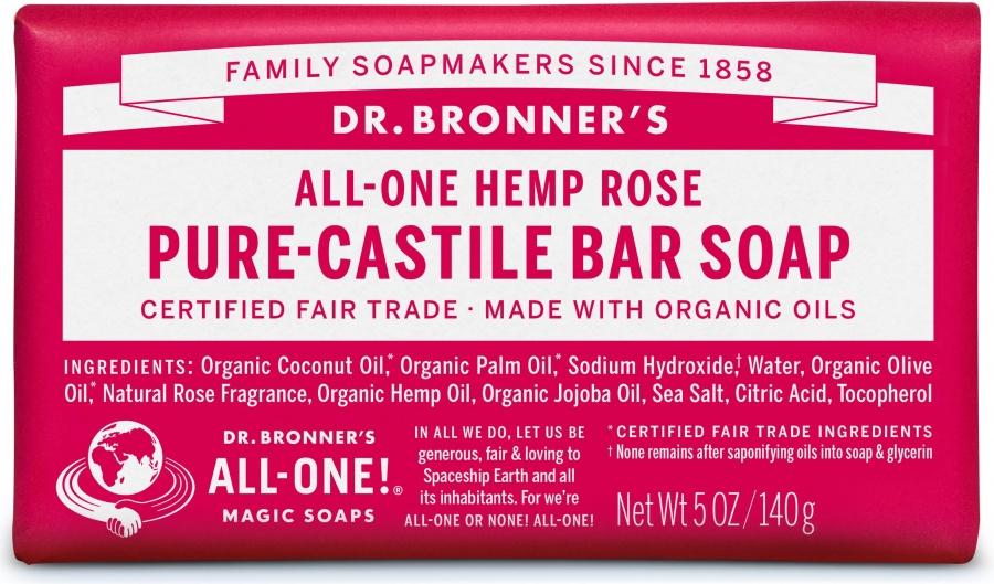 Dr. Bronners Rose såpe 140g