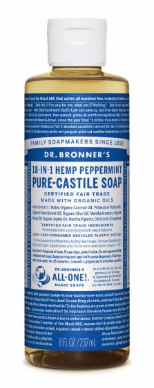 Dr. bronner Peppermint såpe 240 ml