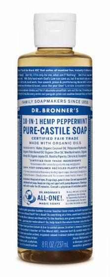 Dr. bronner Peppermint såpe 240 ml