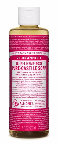 Dr. bronner Rose såpe 240 ml