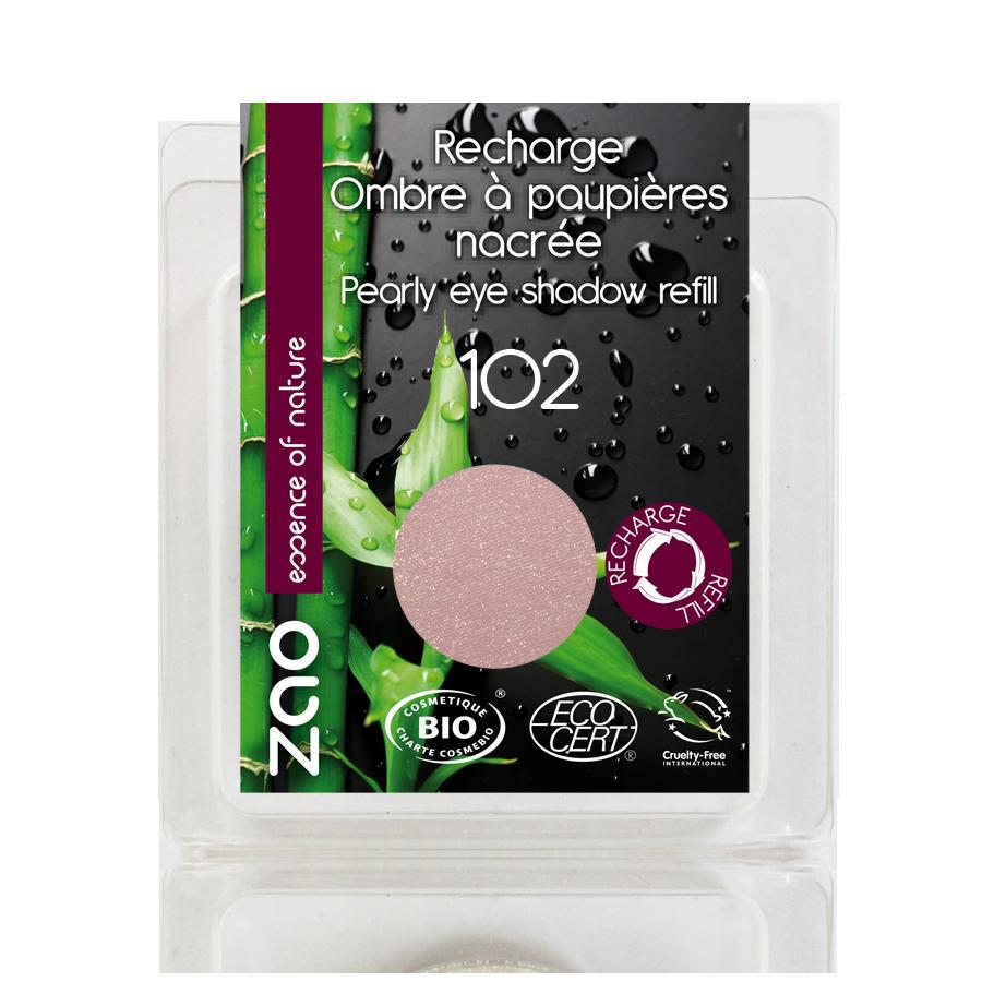 ZAO Refill Pearly Eye Shadow 102 Pearly Pinky Beige - 3ml