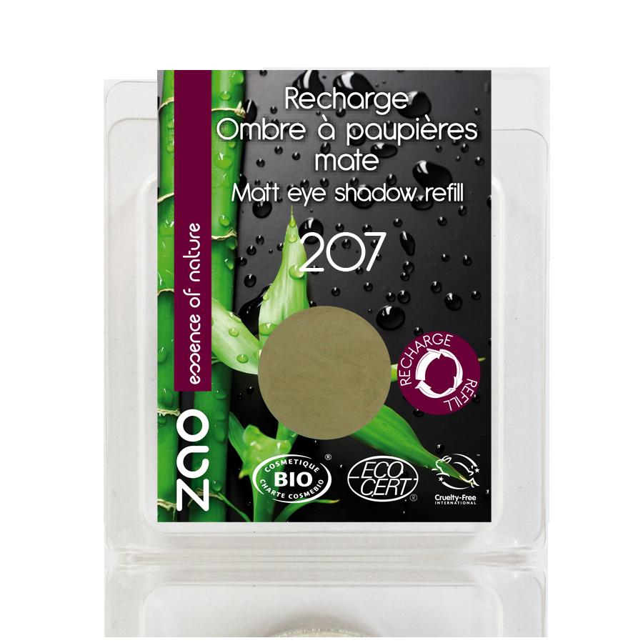 ZAO Refill Matt Eye Shadow 207 Green Olive - 3g