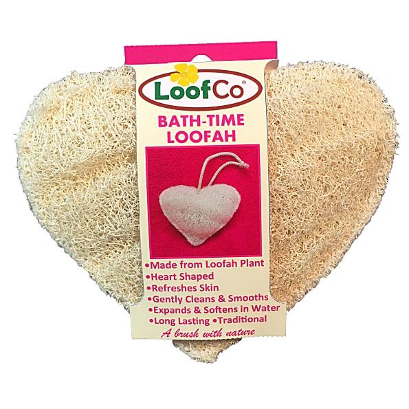 LoofCo Loofah badesvamp hjerteformet (vaskesvamp)