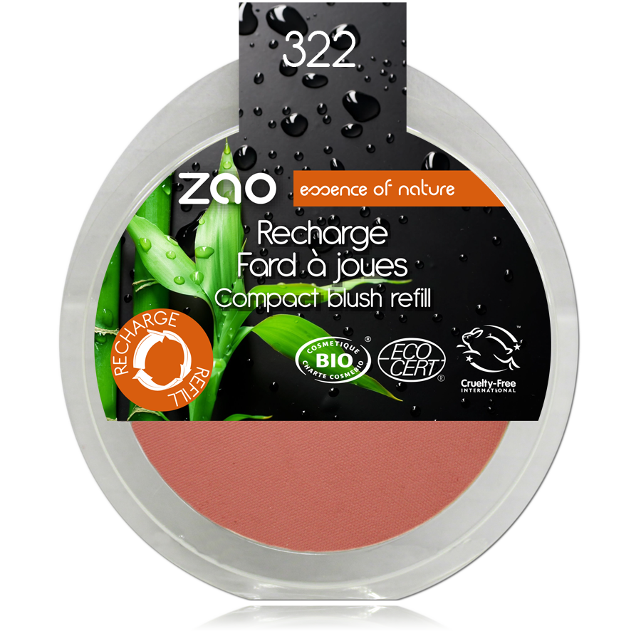 ZAO Refill Compact Blush 322 Brown Pink - 9g