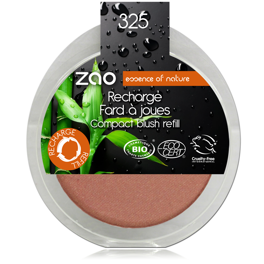 ZAO Refill Compact Blush 325 Golden Coral - 9g