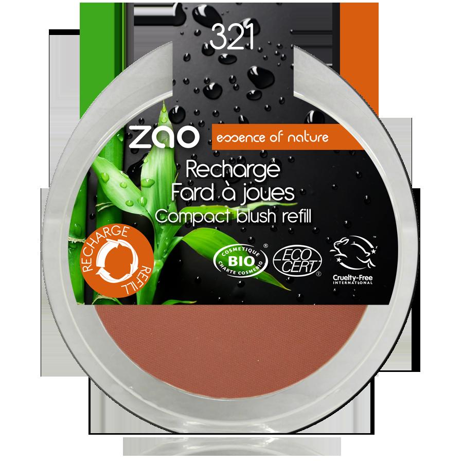 ZAO Refill Compact Blush 321 Brown Orange - 9g