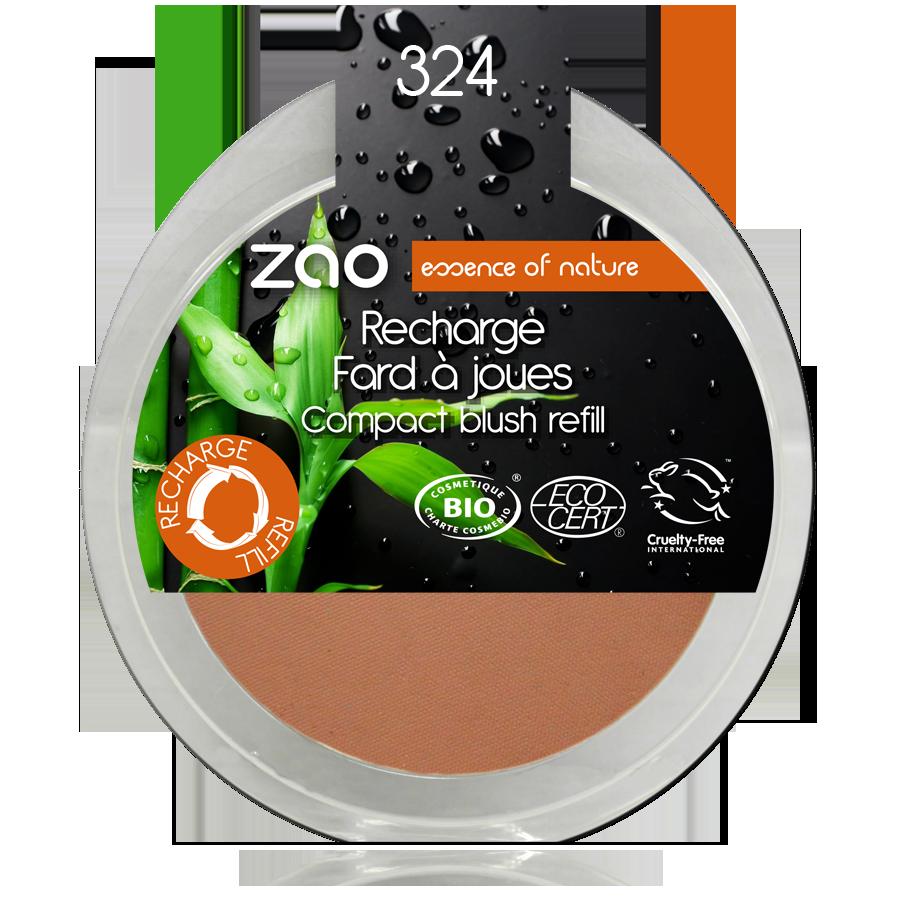 ZAO Refill Compact Blush 324 Red Brick - 9g