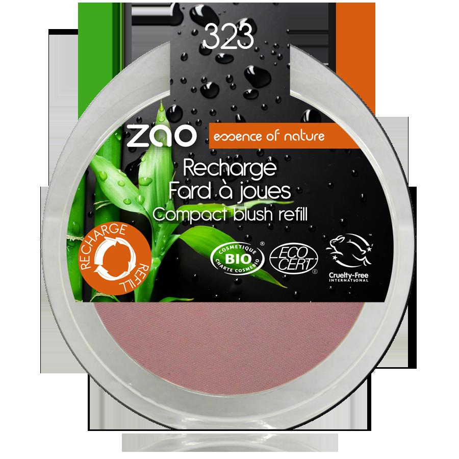 ZAO Refill Compact Blush 323 Dark Purple - 9g