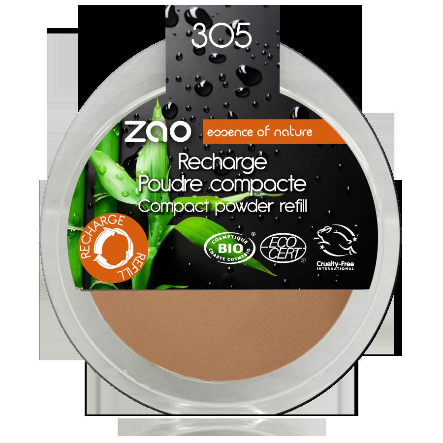 ZAO Refill Compact Powder 305 Milk Chocolate - 9g
