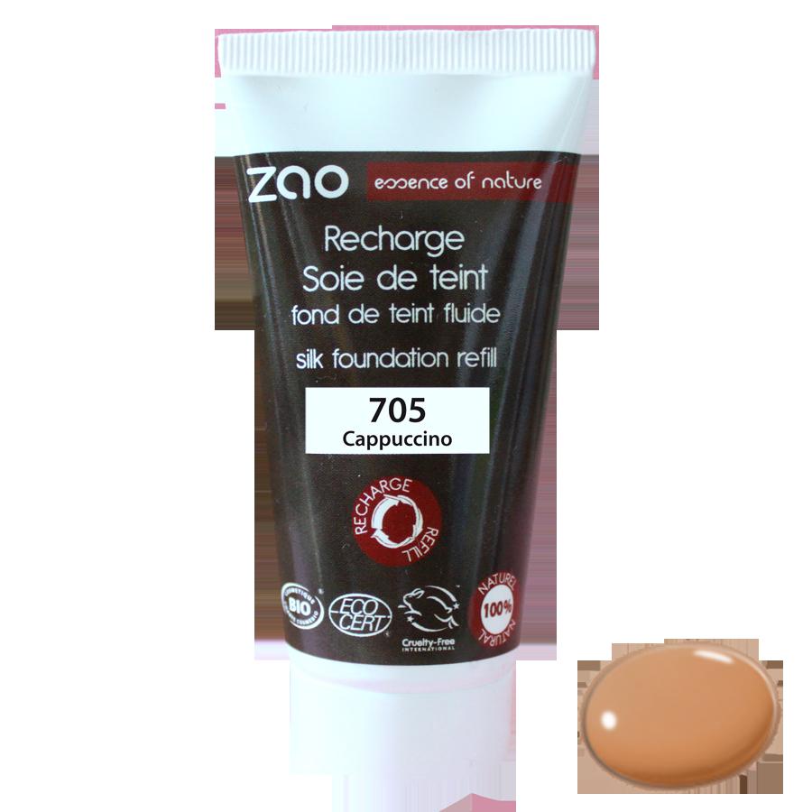 ZAO Refill Silk Foundation 705 Capuccino - 30ml