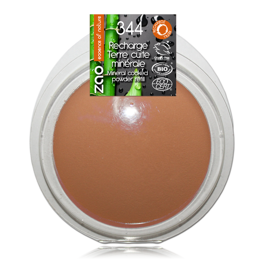 ZAO Refill  Mineral Cooked Bronzer 344 Chocolate