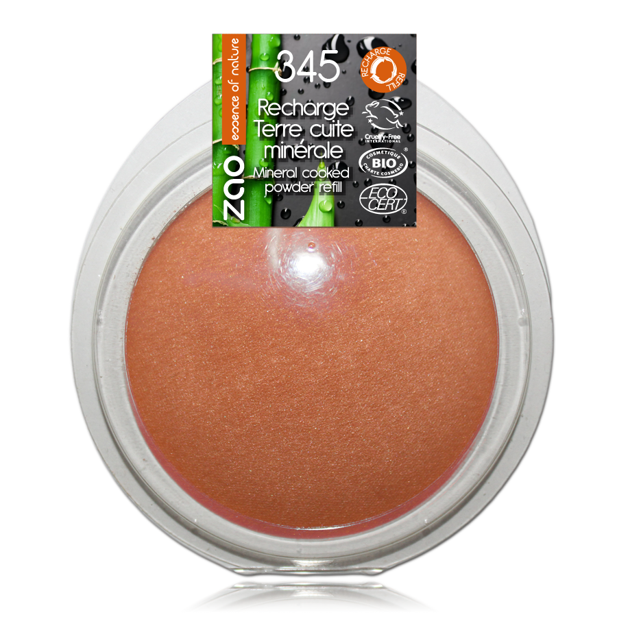 ZAO Refill Mineral Cooked Bronzer 345 Red Copper
