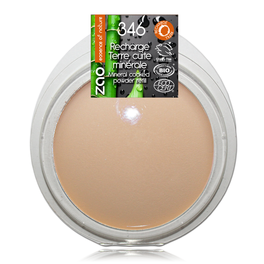 ZAO Refill  Mineral Cooked Bronzer 346 Mattifying Bright Complexion