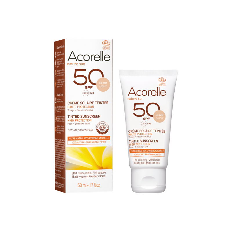 Acorelle Tinted Sun Cream spf 50 - 50ml (light)