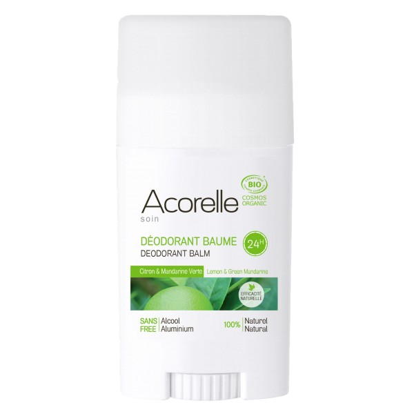 Acorelle Lemon & Green Mandarine Deodorant Stick