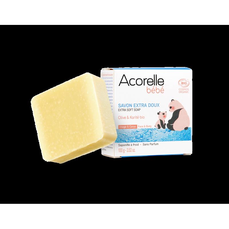 Acorelle Extra Gentle Organic Baby Soap 100g