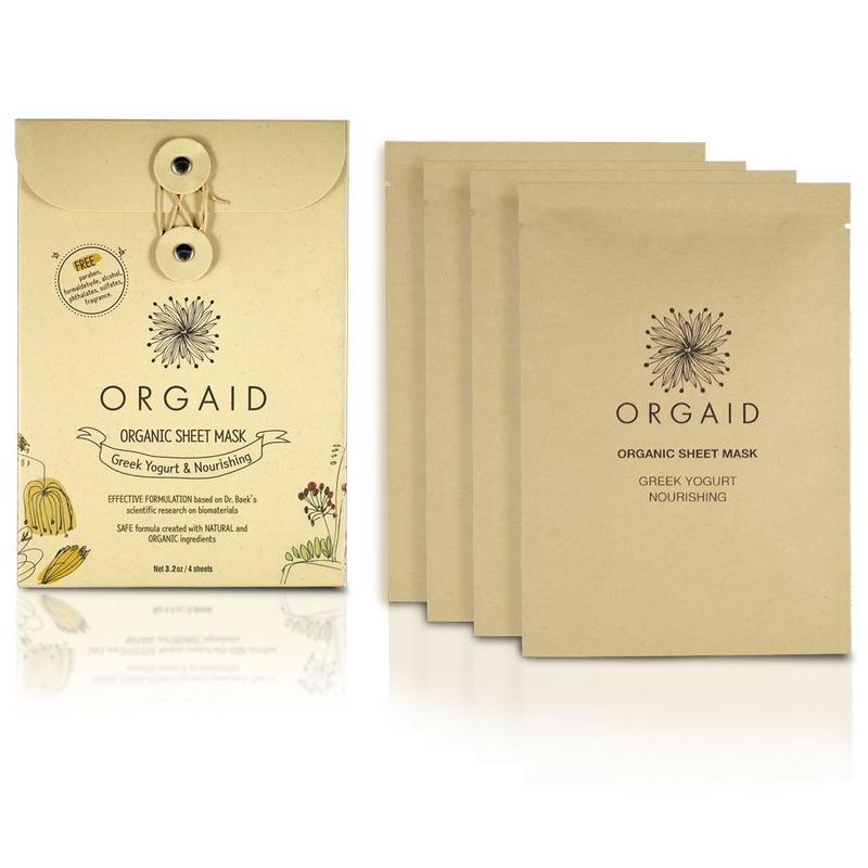 ORGAID Greek Yogurt & Nourishing Organic Sheet Mask Box(4 stk,)