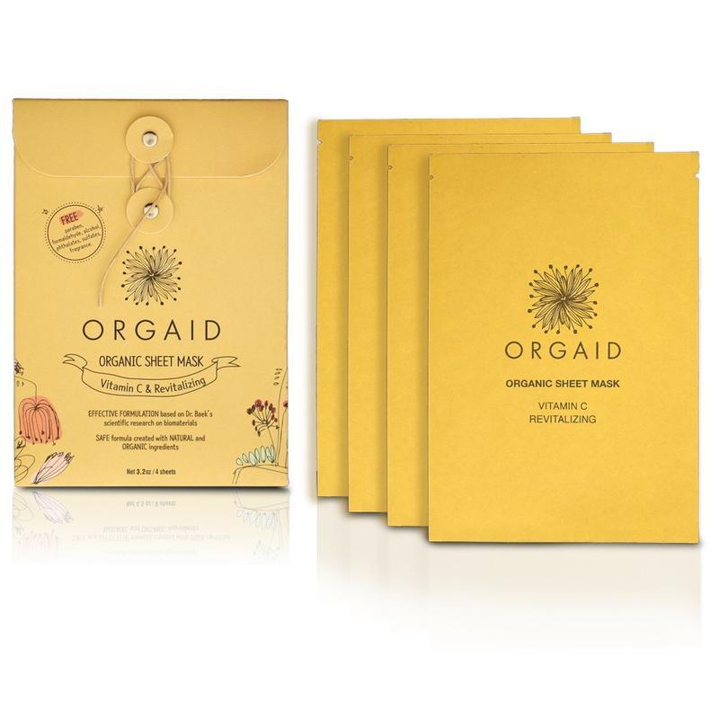 ORGAID Vitamin C & Revitalizing Organic Sheet Mask Box (4 stk,)