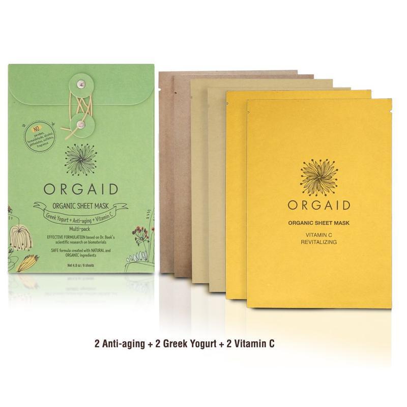 ORGAID Organic Sheet Mask Multi-pack (6 stk, / 2 av hver)