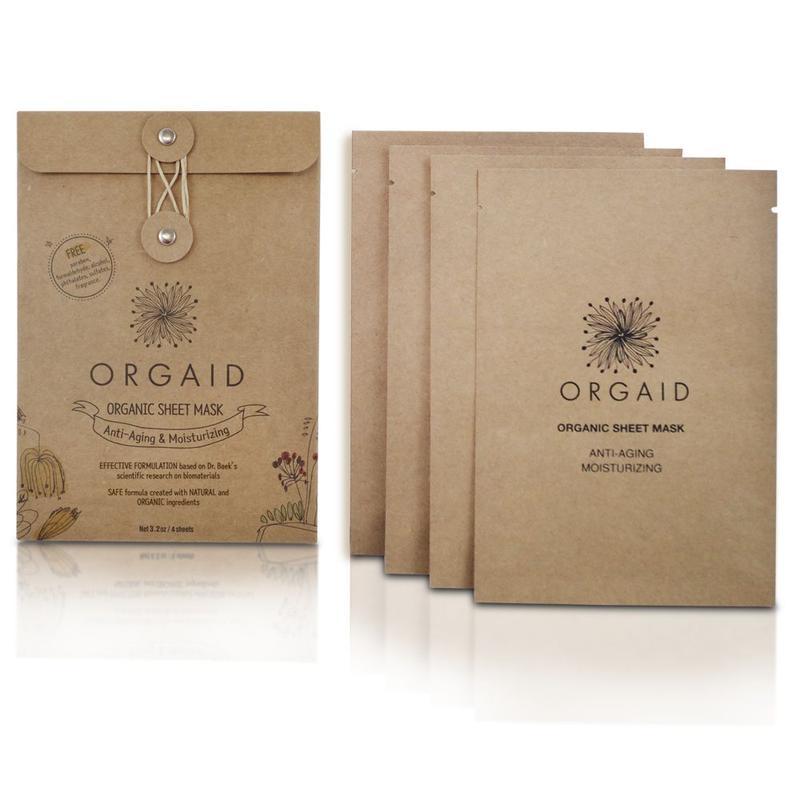 ORGAID Anti-Aging & Moisturizing Organic Sheet Mask Box (4 stk,)
