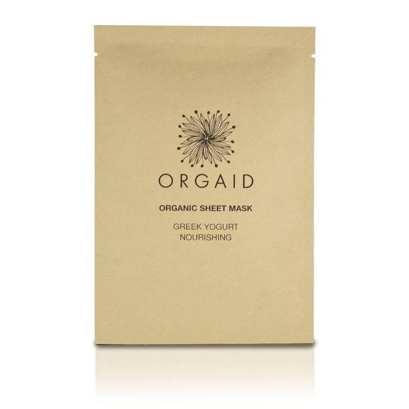 ORGAID Greek Yogurt & Nourishing Organic Sheet Mask (1 stk,)