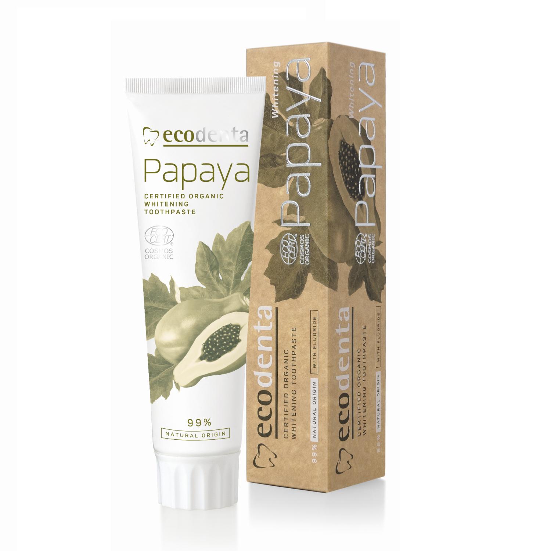 ECODENTA Organic Whitening Toothpaste Papaya (med fluor)
