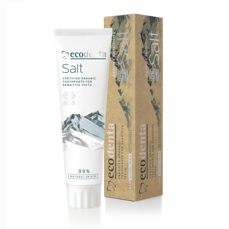 ECODENTA Organic Sensitive Teeth and Gums Toothpaste Salt (uten fluor)