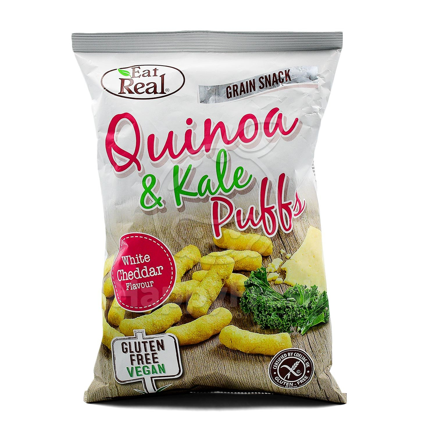 Eat real quinoa & kale puffs white cheddar 113g