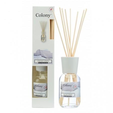 Colony fresh linen flaske med duftpinner 120 ml