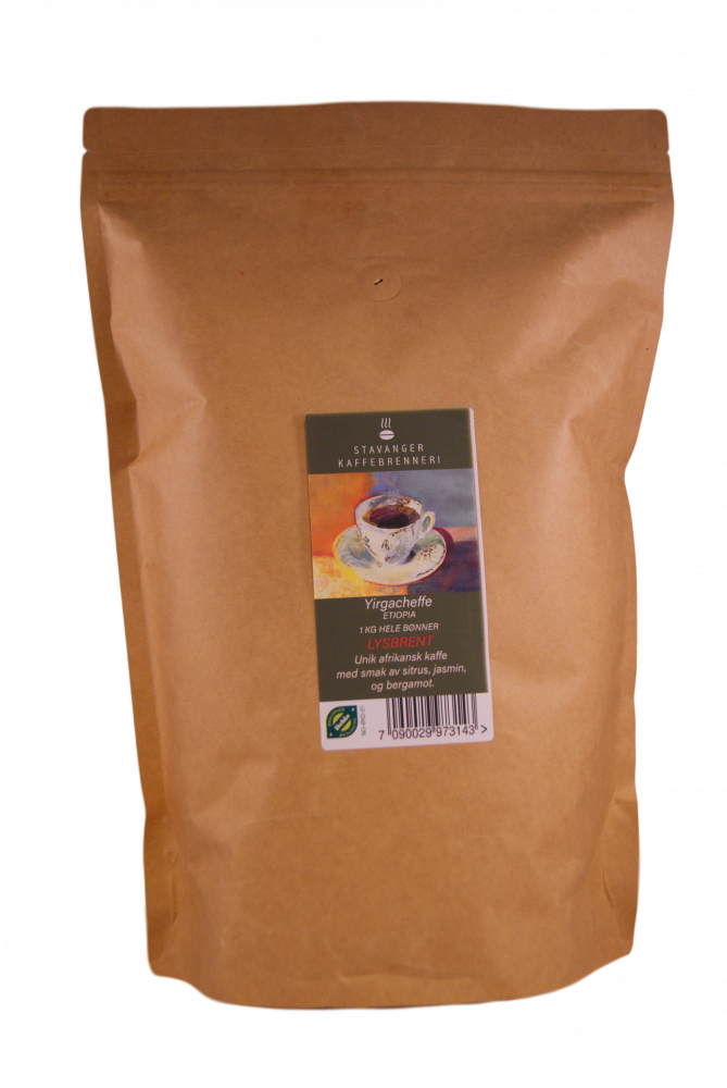 SK Etiopia Yirgacheffe Oromia, 1kg LYSBRENT kaffe
