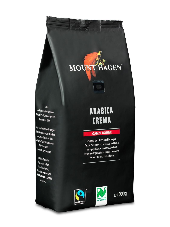 Kaffe, Arabica Crema, hele bønner, 1kg, økologisk, Mount Hagen