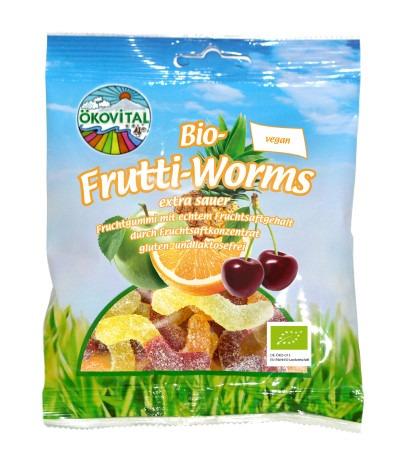 Fruktormer, glutenfri, vegan, 100 g, Ökovital