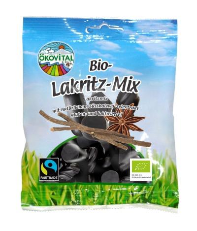 Lakrismiks, glutenfri, laktosefri, 80 g, Ökovital