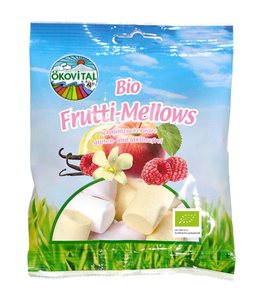 Frukt-Mellows, glutenfri, 100 g, økologisk, Ökovital