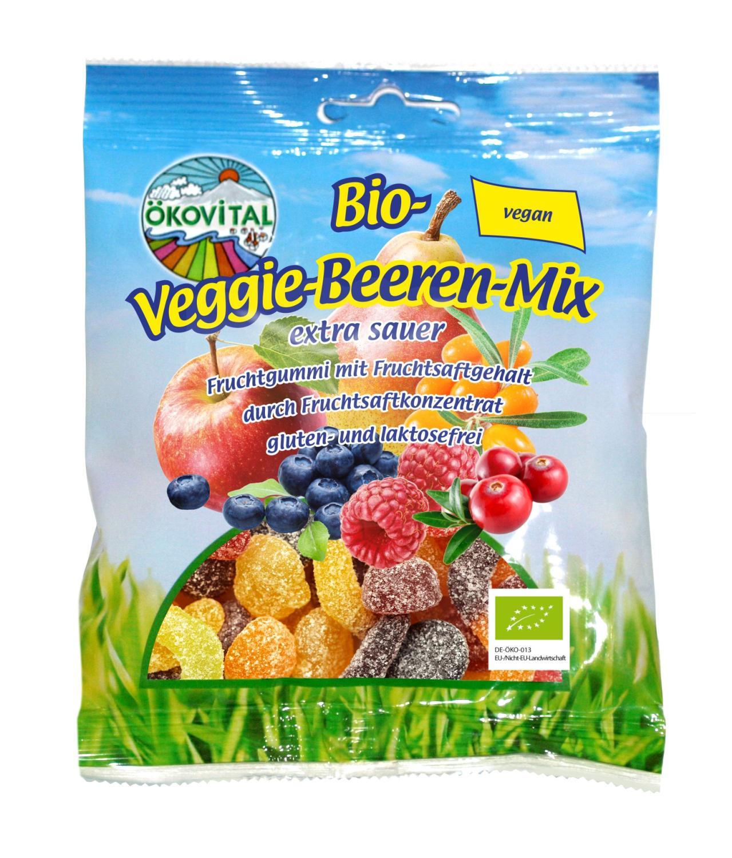 Bærmiks, surt, vegan, glutenfri, 100 g, økologisk, Ökovital