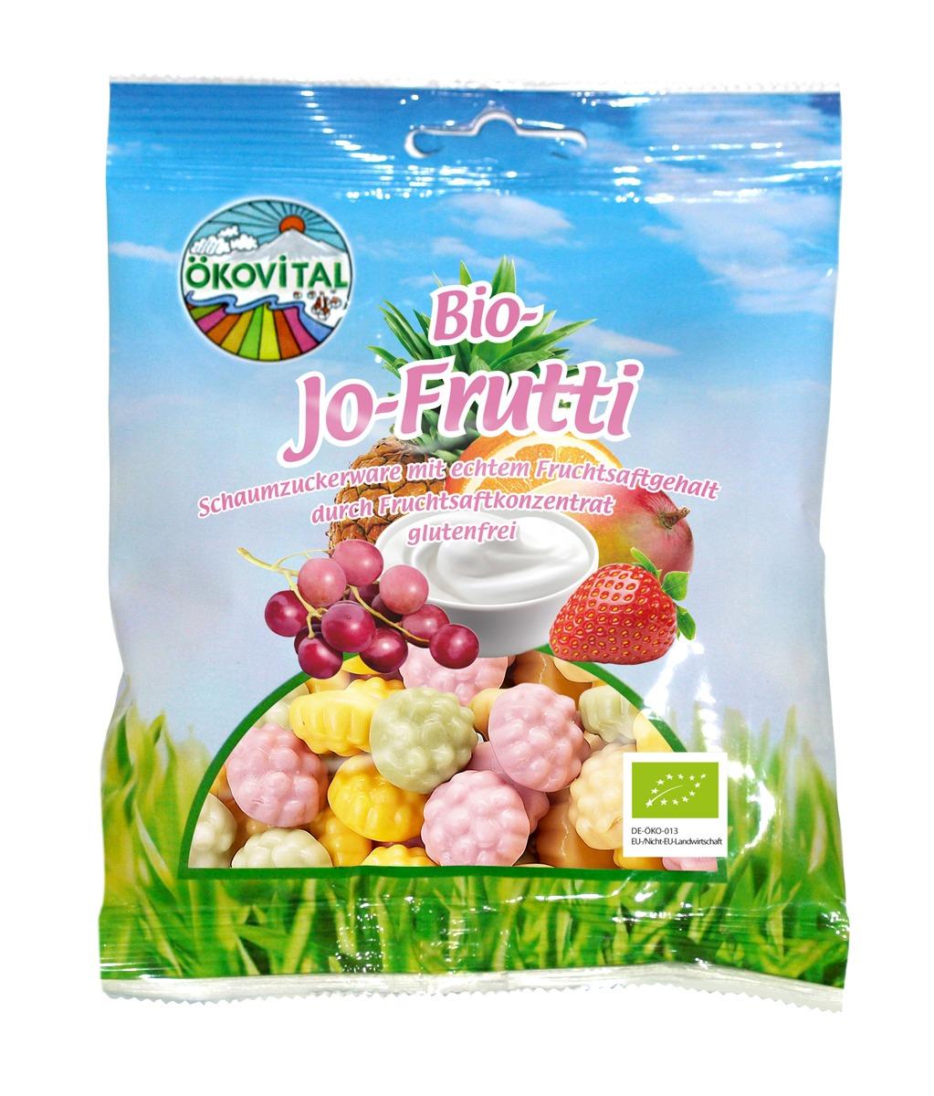 Bio-Jo-Frukt, skumbær, glutenfri, 80 g, økologisk, Ökovital