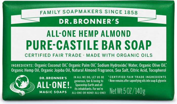 Dr. Bronners ALL-ONE Almond Castille Såpe 140g